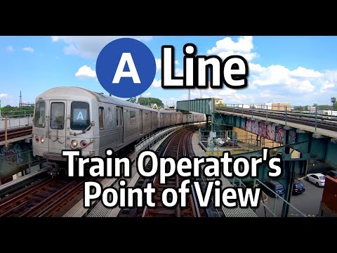 ⁴ᴷ⁶⁰ NYC Subway Front Window View - The A Express To Rockaway Park