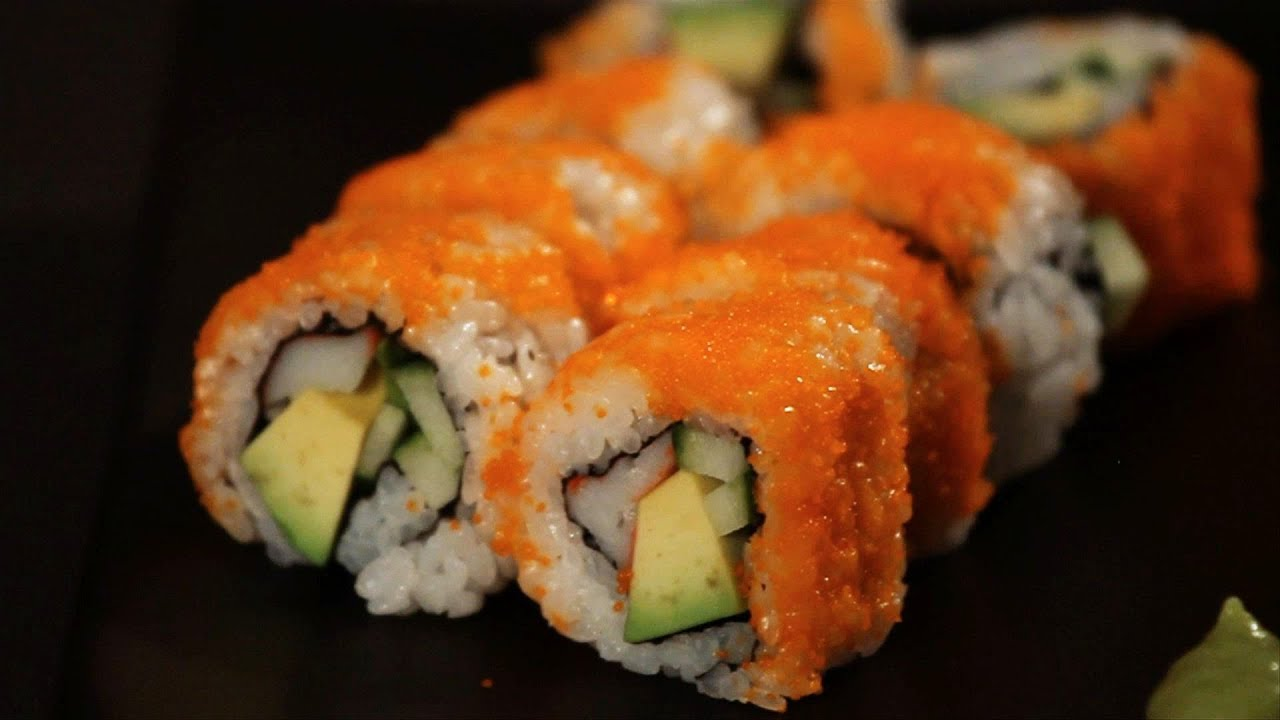 How to Make a California Roll | Sushi Lessons - YouTube