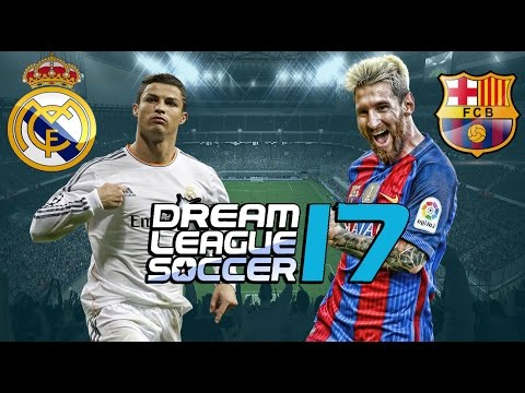 REAL MADRID x BARCELONA - DREAM LEAGUE SOCCER 17 OFICIAL