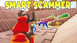 DUMB STOOPID SCAMMER LOSES INVENTORY (SCAMMER GETS REKT FORTNITE SAVE THE WORLD