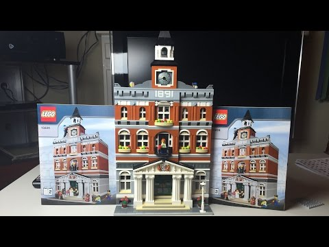Lego City Modular Speed Build & Review - Town Hall Set 10224
