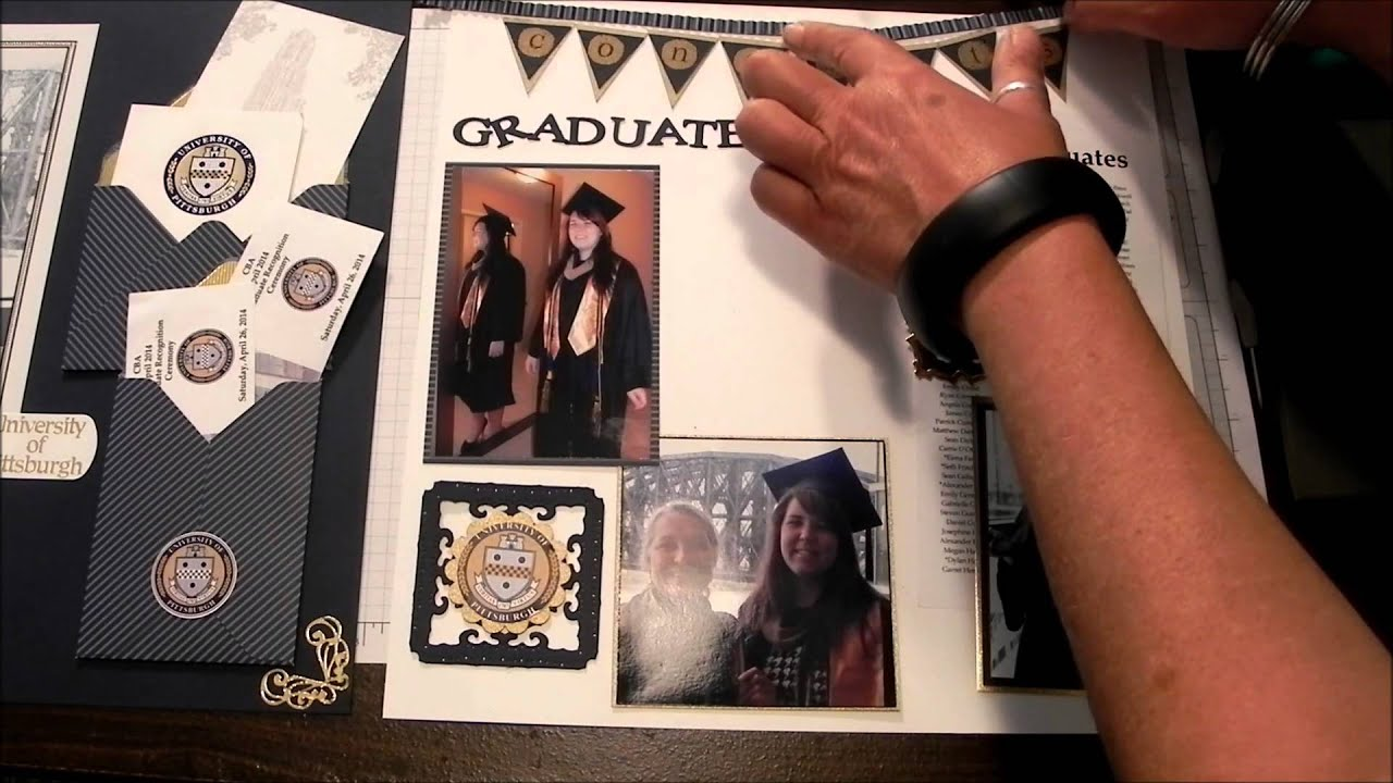 Scrapbook Layout Something Special Graduation Youtube