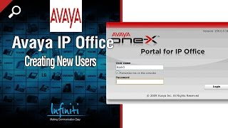 Creating New Users in Avaya IP Office Manager [Infiniti Telecommunications]