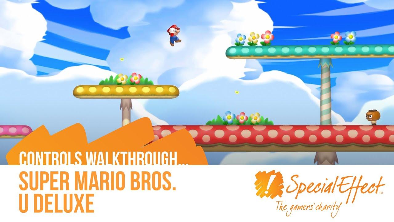 Super Mario Bros U Deluxe Controls Walkthrough Youtube