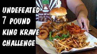 Undefeated 7 lb King Krave Burger Challenge w/ Wreckless Eating | Freak Eating