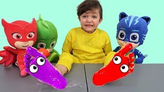 Learn Colors with Feet Painting Nursery Rhymes & Kids Song