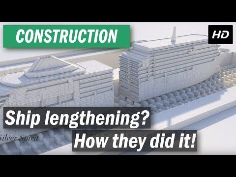 Silversea Silver Spirit ship lengthening animation