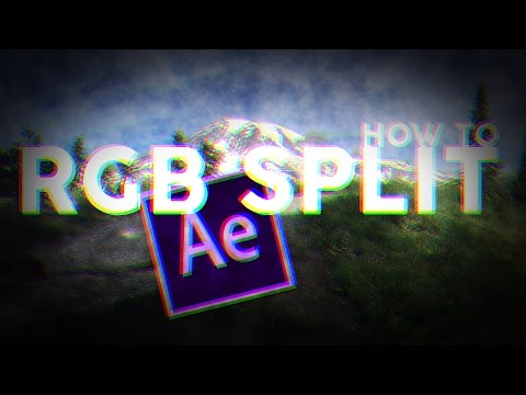 How To Make A RGB Split Effect EASY. NO PLUG INS. [After Effects CS6/CC]