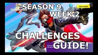 FORTNITE SEASON 9 WEEK 2 CHALLENGES GUIDE! (WALKTHROUGH)
