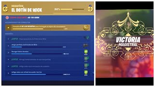 Collect gold tokens in a single game - Fortnite Wick Booty Challenges (Season 9)