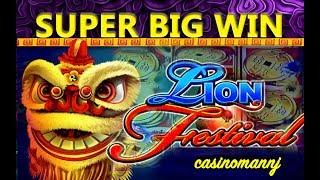 *SUPER BIG WIN* - LION FESTIVAL SLOT - MULTI-SPINNING & WINNING! - Slot Machine Bonus