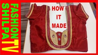 How To Measure And Cut Simple Blouse Latest Easy Blouse Cutting And Stitching With Back Pattern 2016 Youtube