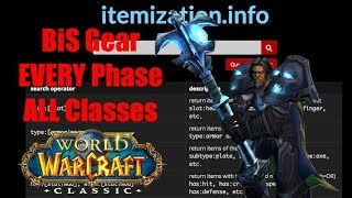 Classic WoW: Best-in-Slot gear, ALL classes & ALL phases!
