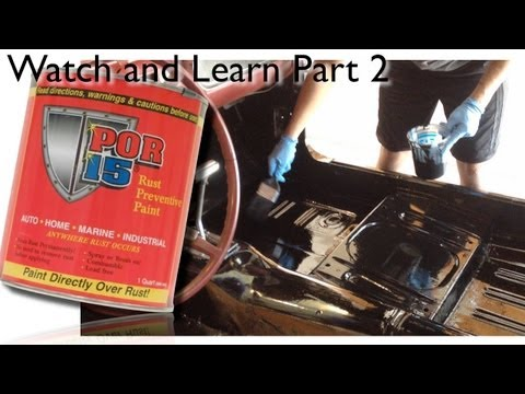 DIY POR15 - How To Apply POR15 To a Floorpan on 66 Mustang