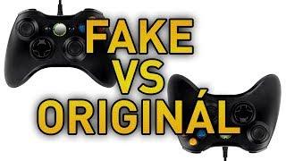 Čínský fake vs originál Microsoft Xbox 360 ovladač