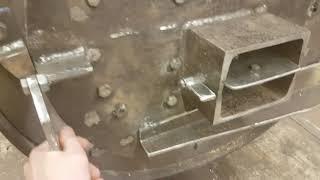 Печь длительного горения из стальной трубы часть 3