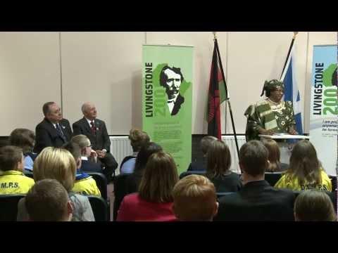President of Malawi at the David Livingstone Centre