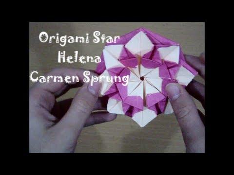"Origami  CD/DVD Case ""Star Helena"" by Carmen Sprung (Not a Tutorial)"