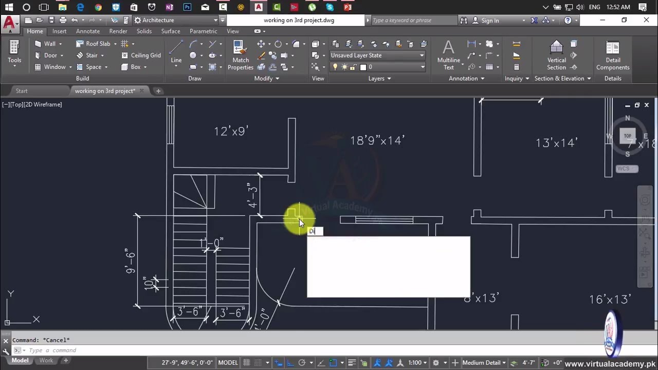 Autocad Complete 2d And 3d House Plan Autocad Tutorial