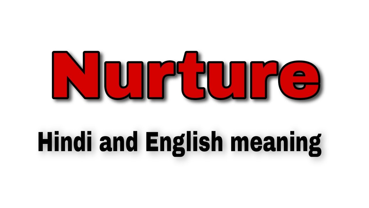 Nurture meaning in hindi and english