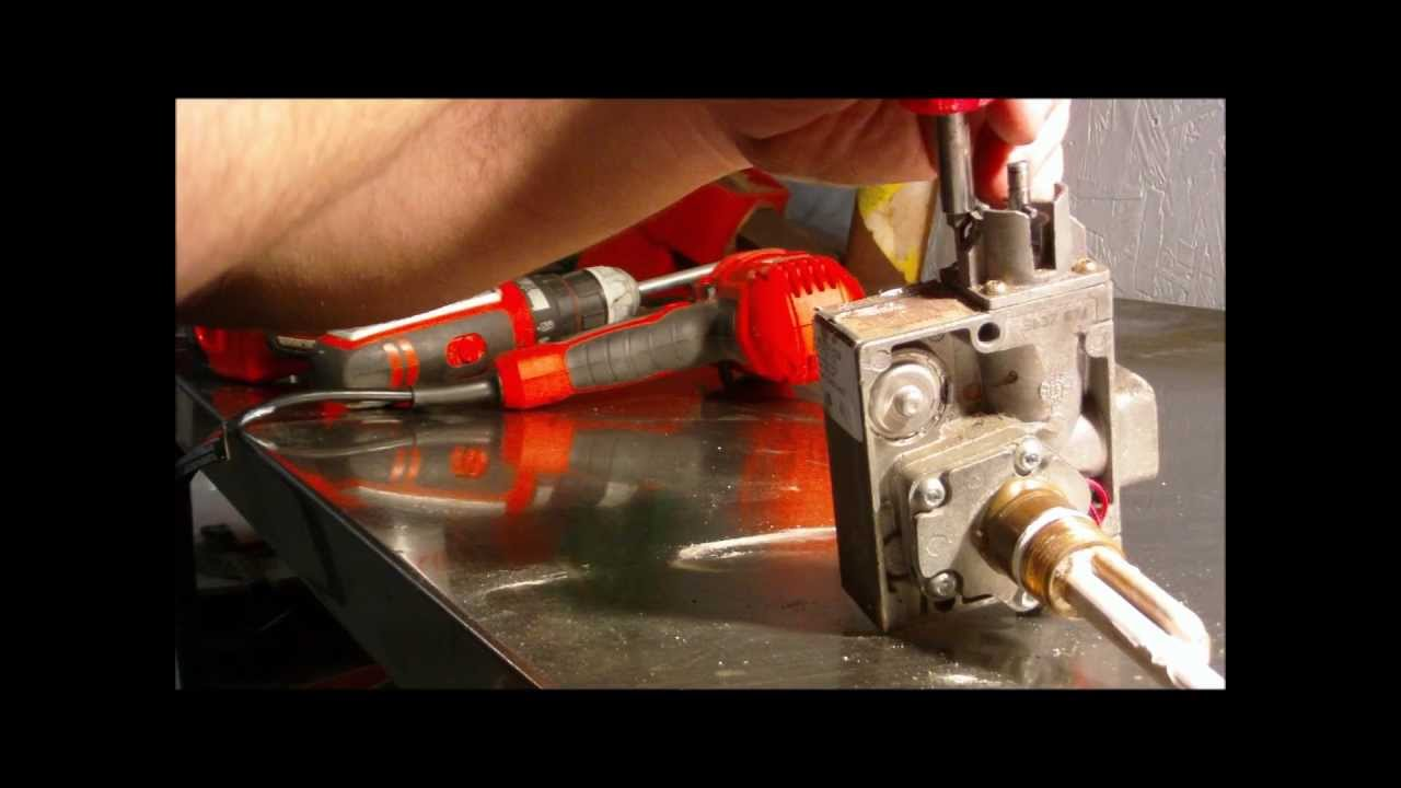 Water Heater Gas Control Valve Thermostat Dis Assembly Youtube Wiring A Geyser