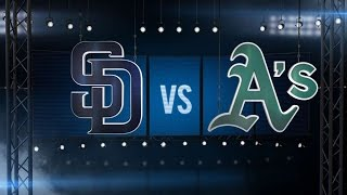 6/17/15: A's pound Padres with 20 hits, win 16-2
