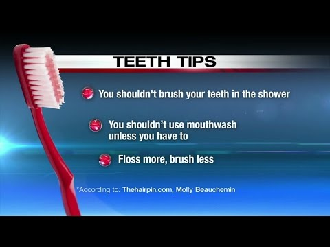 Tips clear up myths about brushing teeth