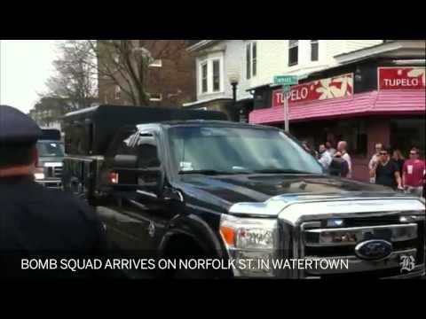 Bomb squad arrives on Norfolk St. in Cambridge