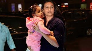 Rani Mukerji SPOTTED with Her Cute Daughter Adira