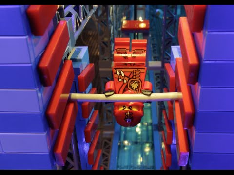 Ninjas take on the American Ninja Warrior Obstacle Course! - LEGO NINJAGO