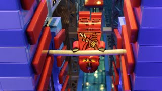 Ninjas take on the American Ninja Warrior Obstacle Course! - LEGO NINJAGO