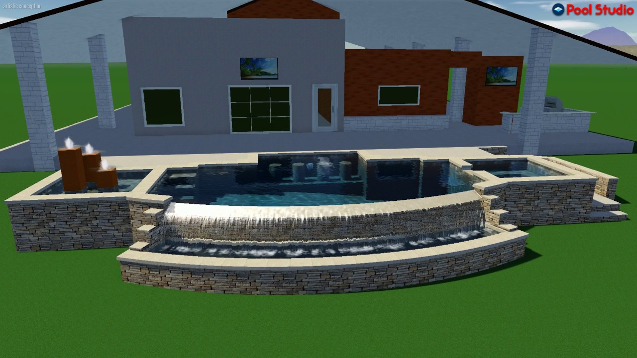 Pool studio 3d swimming pool design software youtube for Swimming pool design xls