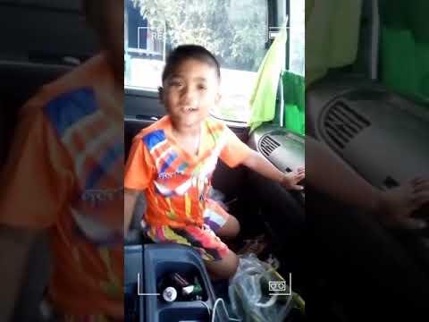 น้องต้นปาล์มฝากประชาสัมพันธ์รถไทยที่ไปส่งของประเทศลาว