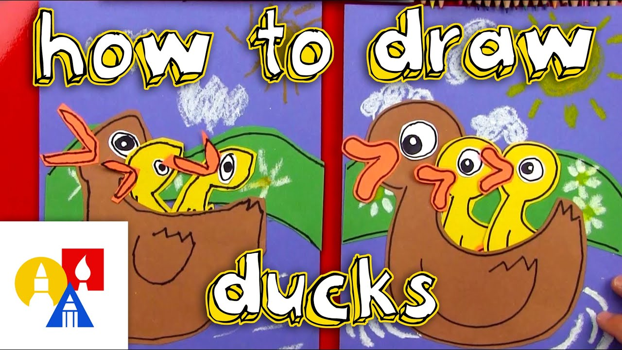 How To Draw Momma And Baby Ducks - YouTube