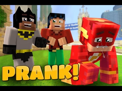 The Flash PRANK - Batman & Robin Play a prank on Minecraft Flash (Minecraft Roleplay)