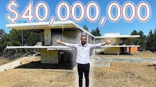 Touring a 40 MILLION DOLLAR Mega Mansion Construction site! | Beverly Hills Mansion Tour