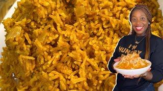 How To Make Yvonne Orji Coconut Jolly Rice Recipe!