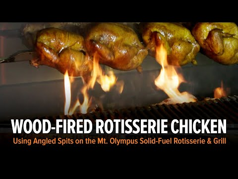 Mt. Olympus Wood-Fired Chicken Rotisserie With Grill