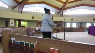 Joan Barnes sings ONE DAY AT A TIME, SWEET JESUS at Elsie Barnes