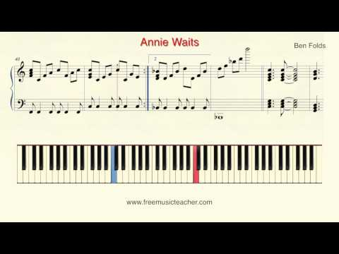 "How To Play Piano: Ben Folds ""Annie Waits"" Piano Tutorial by Ramin Yousefi"