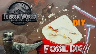 มาขุดฟอสซิลไดโนเสาร์ที่บ้านกันมั้ย - Jurassic World 2018 (DIY Dinosaur Fossil Dig) | Pinself