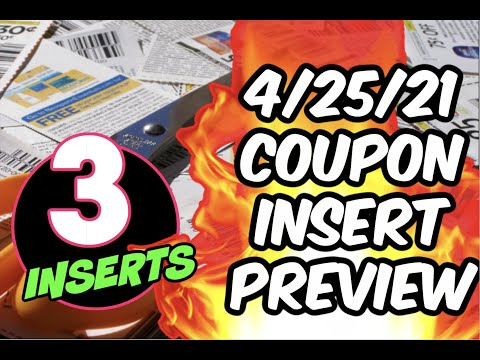 4/25/21 COUPON INSERT PREVIEW | 3 INSERTS | COUPONS FOR OUR DEALS!