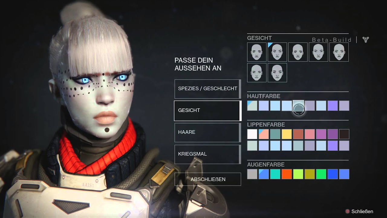Destiny Beta Character Customitation (Female Awoken) - YouTube