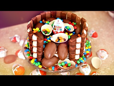 ГОТОВИМ ТОРТ ИЗ KINDER SURPRISE, KINDER BUENO, M&M'S