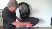 Fix hard to roll Ikea Chair. - YouTube