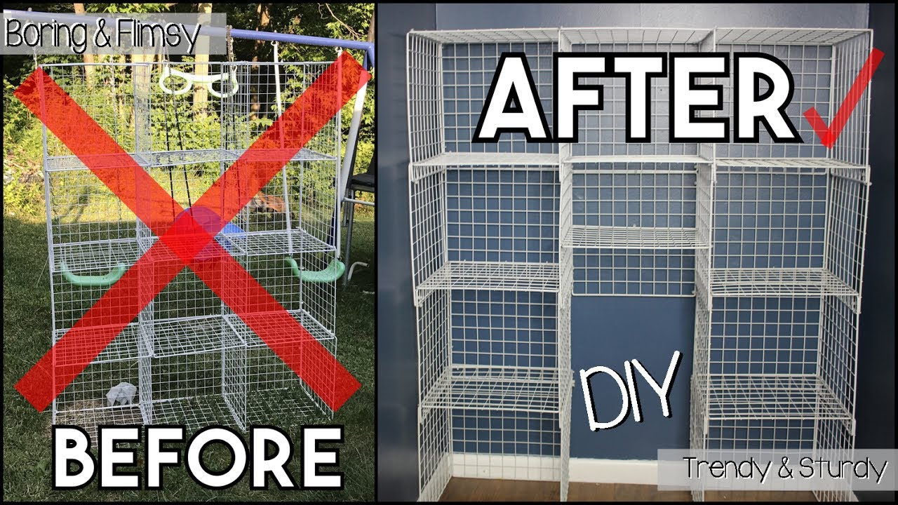 Inexpensive Wire Cube Shelf Makeover! How to Transform Your Cheap ...