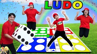 LUDO | Comedy Family Challenge | Biggest Ludo Outdoor game | Aayu and Pihu Show