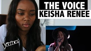"""The Voice 2017 - Blind Audition - Keisha Renee: """"I Can't Stop Loving You"""" - REACTION!"""