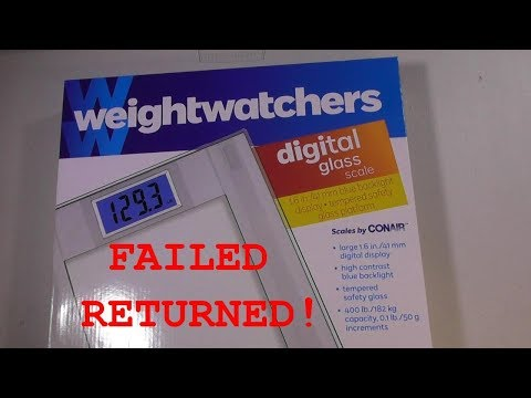 WeightWatchers Digital Glass Scale by Conair REVIEW Costco Item  1170723