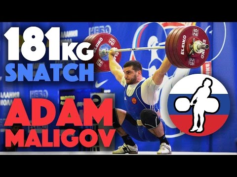 Adam Maligov (94) - 172kg, 178kg and 181kg Snatch